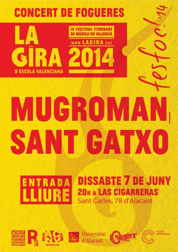FESFOC 2014. Concert de Fogueres de la Gira d'Escola Valenciana