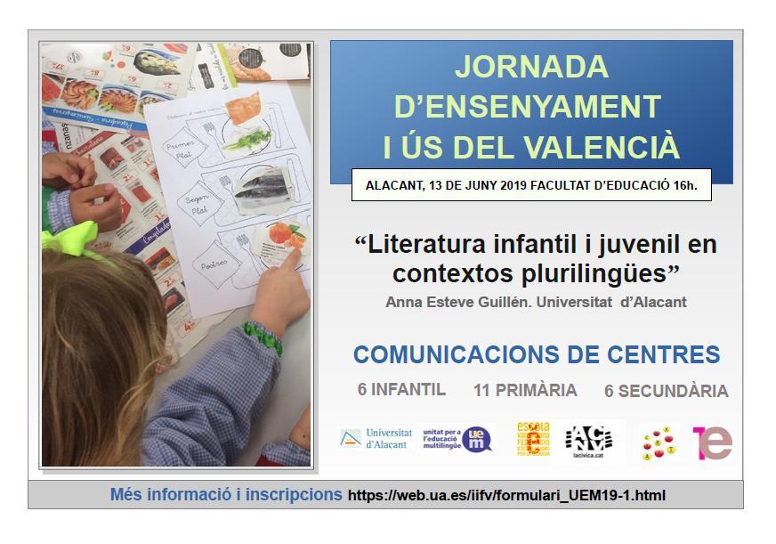 Jornada d'Ensenyament i Ús del valencià als centres educatius 2019